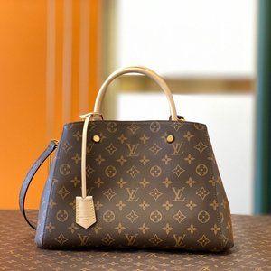 NWT LV Montaigne MM Handbag Monogram Shoulder Bag